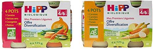 HiPP Biolologique Mes Premiers Légumes offre diversification legV1+legV3 dès 4/6 mois - 16 pots de 125g