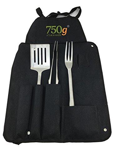 750 G Lot de 3 Kits à barbecue/Tablier -Noir 44 x 7 x 8 cm C&GSTBBQ3