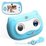 N/K Macchina Fotografica Bambini, 24 MP Fotocamera Digitale Bambini Portatile Doppio Obiettivo Videocamera con 1080P FHD Funzione Video, Zoom, Scatto Continuo, Idee Regali per 3-12 Anni Bambini