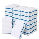 Esponjas de melamina sin químicos, borrador mágico de sándwich aseleccionado, bloques, toallitas limpiadoras de pared para eliminación de manchas y marcas, color blanco, paquete de 20