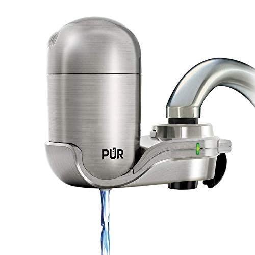 PUR FM-4000B Stainless Steel Faucet Mount Water Filtration...