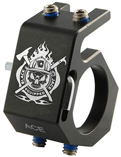 BlackJack Firefighter Helmet Aluminum Flashlight Holder (ACE)