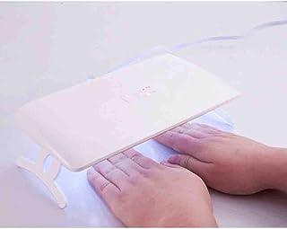 LED Secador de clavos UV Máquina de uñas de doble fuente de luz Portátil plegable de secado rápido Manos y pies Lámpara para hornear clavos