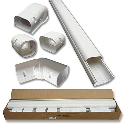 4 14 Ft Line Set Cover Kit Pro Series for Mini Split Air Conditioners and Heat Pumps Decorative Tubing Cover