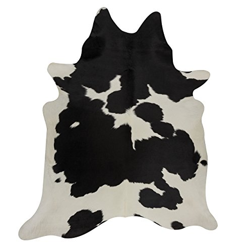 RODEO Classic Black and White Cowhide Rug …