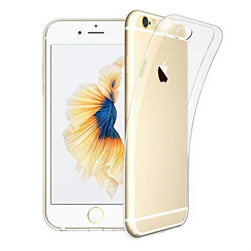 DOSMUNG Hülle kompatibel mit iPhone 6s Plus iPhone 6 Plus, Transparent Handyhülle für iPhone 6 Plus/iPhone 6s Plus, HD Silikon Anti-Kratz Rückseite Backcover TPU Hülle für iPhone 6 Plus / 6s Plus