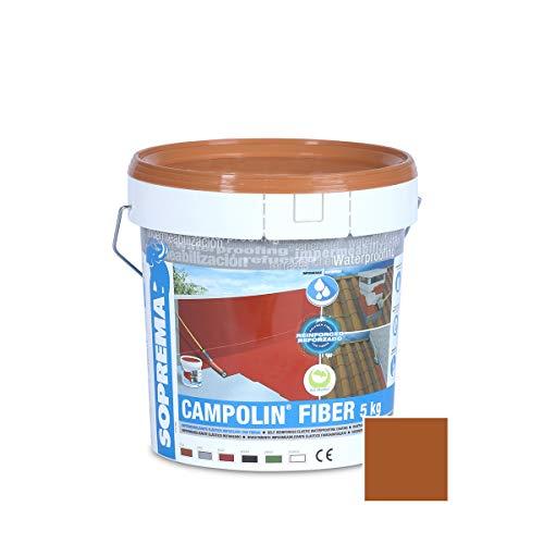SOPREMA CAMPOLIN FIBER 5 KG TEJA Impermeabilizante de Caucho acrílico Armado con Fibras