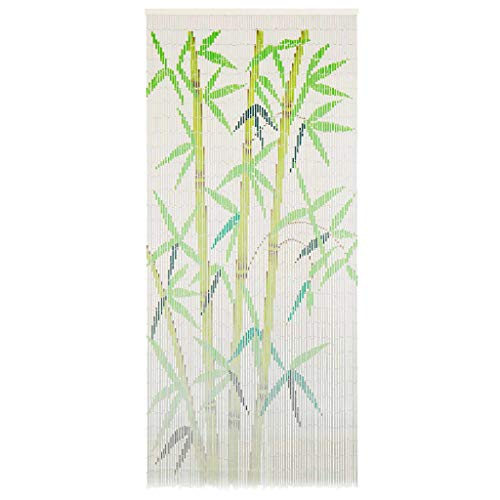 vidaXL Bamboo Bead Curtains for doorways - Insect Door Curtain Wall Hanging Room Divider - Door String Curtain - Home Patio Bedroom Decorative Screen 35.4x78.7 inch (Multi-Color)