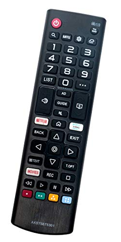 ALLIMITY AKB74915324 Reemplazo de Mando a Distancia para LG Smart TV 55UH661V 65UH615V.AEE 32LH604V 43LH630V 43UH664V 49UH603V 49UH664V 43UH620V.AEU 49LH604V 55UH650V 60UH625V.AEU