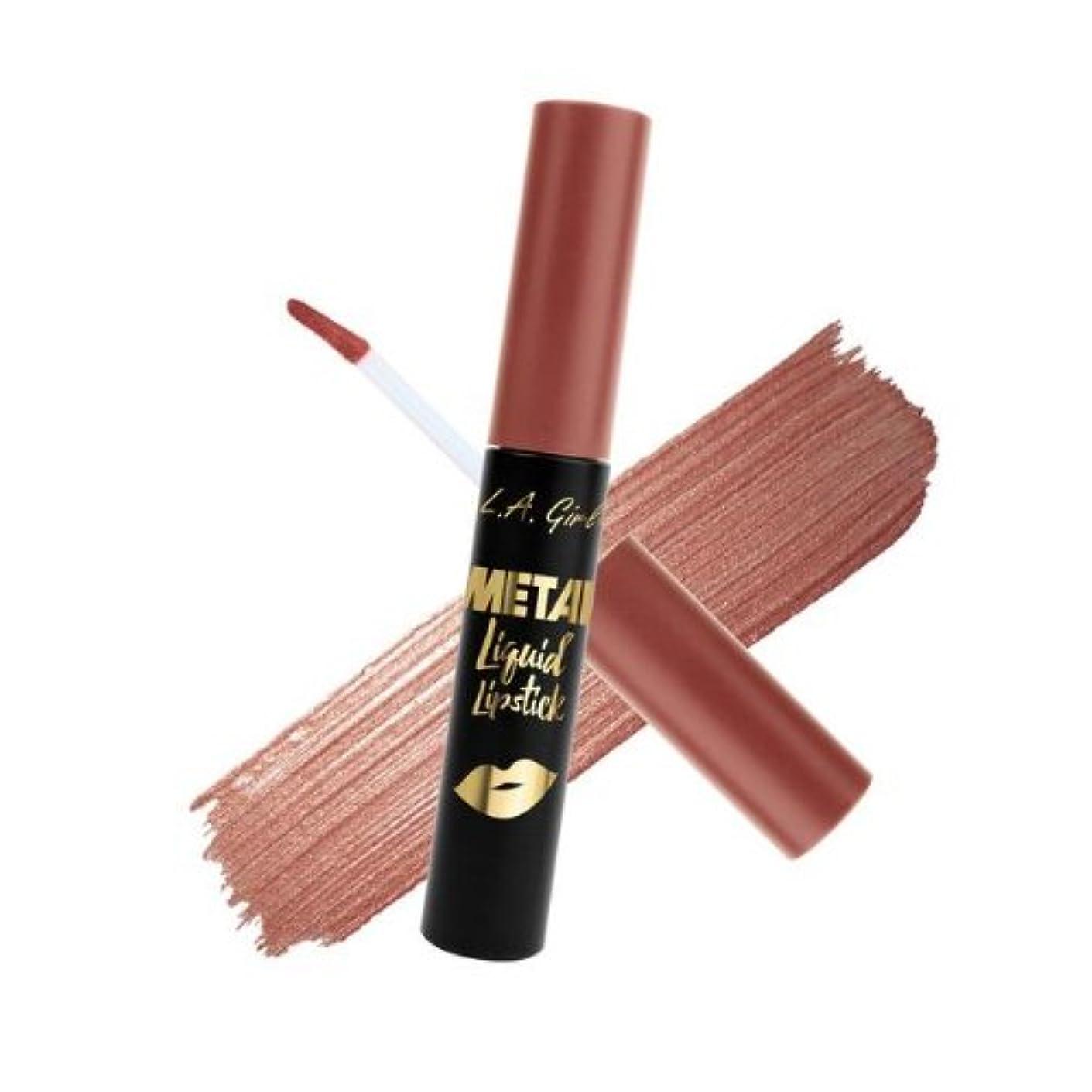 供給処理ブロックする(6 Pack) L.A. GIRL Metal Liquid Lipstick - Smolder (並行輸入品)