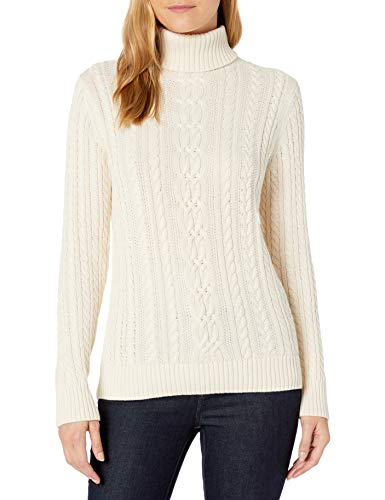 Amazon Essentials Fisherman Cable Turtleneck Sweater Pullover-Sweaters, Crema, US XXL (EU...