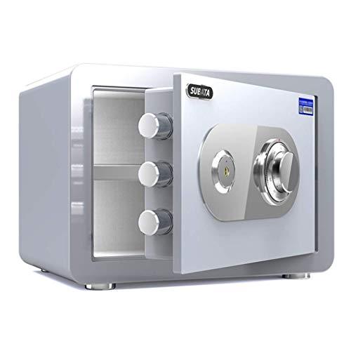 XiYou Caja Fuerte de Seguridad, mecánica, gabinete de Seguridad doméstico pequeño con una Altura de 25 cm / 30 cm, ignífugo, Impermeable y antirrobo de Gran Capacidad, fácil de Usar, 4 Colores