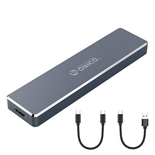 ORICO Boîtier SSD en Aluminium M.2 NVMe Aluminium, M-Key Ultra-Mince vers USB3.1 Boîtier de Disque Dur Externe Gen2 Type-C 10 Gbps, Stockage jusqu'à 2 to pour Samsung 970 Evo / 970 Pro et Plus - Gary