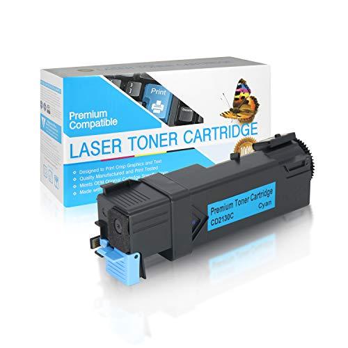 USA Advantage Compatible Toner Cartridge Replacement for Dell 2130/2135 / 330-1386/330-1417 / FM065 / T103C / 330-1390/330-1437 / P238C / T107C (Cyan,1 Pack)