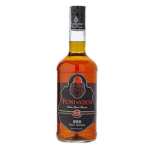 Fundador Triple Wood Brandy 70 cl - Brandy de Jerez - Bardinet (1 Flaschen)