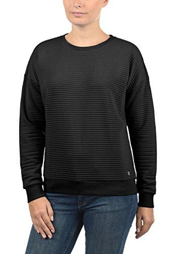 DESIRES Jördis Damen Sweatshirt Pullover Sweater Mit Rundhalsausschnitt, Größe:S, Farbe:Black (9000)
