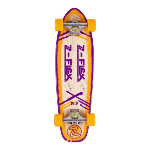 Z-Flex Skateboard P.O.P.Jimmy Plumer Cruiser, Orange/Purple, 7.7 Zoll