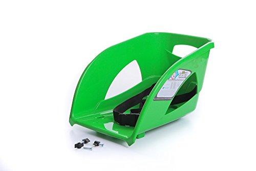 Kindersitz Sitz Lehne für Schlitten Kinderschlitten Rodel aus Kunststoff (Grün)