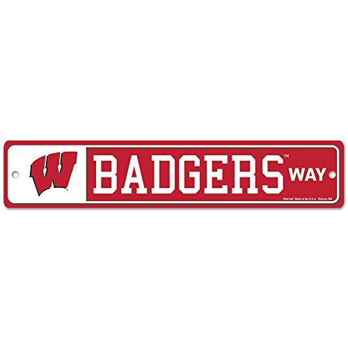 NCAA University of Wisconsin 89146012 Street/Zone Sign, 4.5