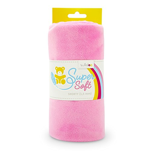 kullaloo Supersoft Plüsch Stoff Shorty in vielen Farben - 1,5mm Florlänge, EN 71-3 & EN 71-9 Zertifiziert (rosa)