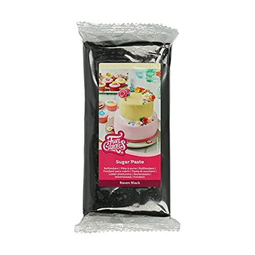 FunCakes Pasta di Zucchero Raven Black: facile da usare, liscia, flessibile, morbida e pieghevole, perfetta per decorare torte, halal, kosher e senza glutine - 1000 g
