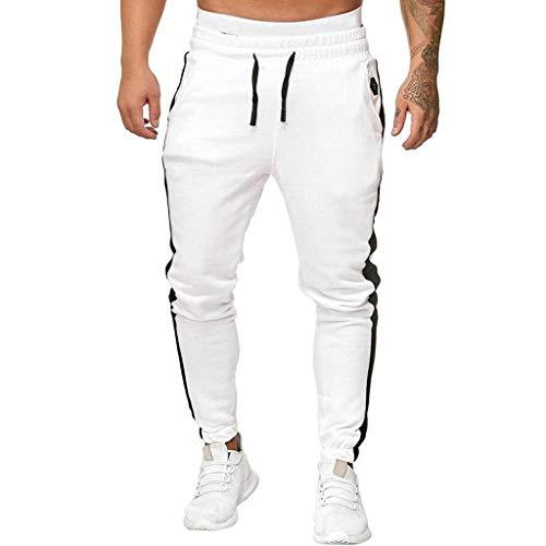 SHE.White Freizeithose Herren Lang,Jogger Männer Trainingsanzug Modern | Jungen Slim Fit Freizeithose | | Sporthose – Training – Trainingshose |