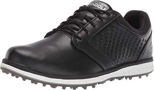 Skechers Elite 3 Damen-Golfschuhe, ohne Spikes, wasserdicht, Schwarz (schwarz / weiß), 38.5 EU