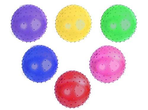 007468, 4 Stück Noppenball Aufblasbälle 20 cm, Noppenbälle, Massagebälle, Fussball, Wasserball, Wurfball, Spielball, Fußball, Massageball, Igelball, Antistressball