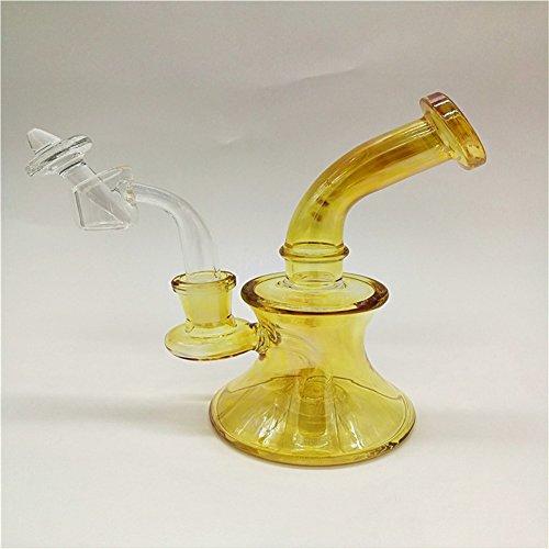 Peluca de cristal de cristal de 17,8 cm con brazalete de cristal y tapón de carburo para ahumar accesorios