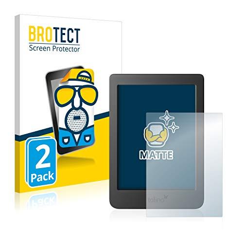 BROTECT 2X Entspiegelungs-Schutzfolie kompatibel mit Tolino Page 2 Displayschutz-Folie Matt, Anti-Reflex, Anti-Fingerprint
