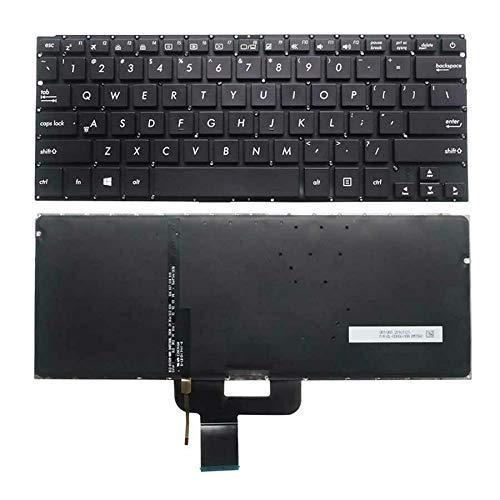 Teclado para computadora portátil Nuevo teclado para computadora portátil retroiluminado en inglés de EE. UU. (Sin reposamanos) Reemplazo para Asus ZenBook UX410 UX410UA UX410UQ U4100 U4100U U4100UQ R