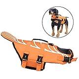 CAISYE Chaleco Salvavidas para Perros Chaleco de natación para Mascotas Flotador para Mascotas tamaño Ajustable para Perros Dog Safety Clothing con asa,S