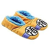 Dragon Ball Z Slippers Logo Slipper Socks (Big Kid/Teen/Adult), L/XL Orange