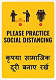 Available in different language combinations in Hindi, with English. Functional design & Easy to Spot & Read Sticks easily onto any clean & flat surface like Glass, Metal, Laminate, Ceramic Tile Laminated to resist stains & print damage. Easy to appl...