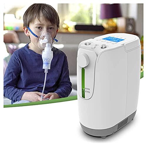 WUKALA Concentrador de Oxigeno,Concentrador de Oxígeno Portatil,Máquina de Oxígeno Doméstica Ajustable 1-7l / Min 91% ± 3 de Alta Pureza para Uso DoméStico y de Viaje