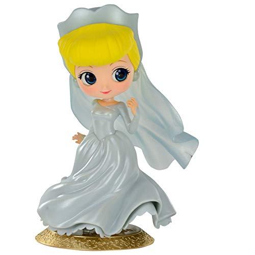 Figure Boneca Cinderela Ella Princesa Vestido Noiva Colecionável Decorativa Geek Bandai Banpresto Qposket BDB TOYS