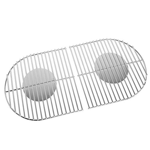 Stanbroil Solid Rod Stainless Steel Grill Cooking Grates Replacement Parts for Coleman Roadtrip Swaptop Grills LX LXE LXX, 2 Pack