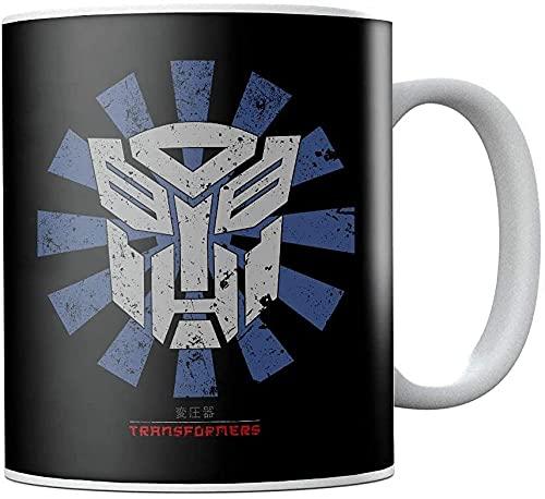 Transformers - Taza de café japonesa de cerámica, diseño retro, regalo de cumpleaños