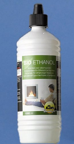 Bio-ethanol, 1 liter fles, voor ethanol haarden en vuurobjecten
