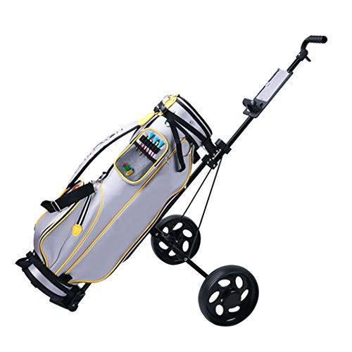 Golf Push Cart 2 Wheel Foldable, Golf Pull Cart with Scorecard Holder, Collapsible Pull Carts for Golf Clubs