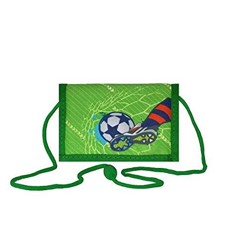Spirit Kinder Geld Beutel Börse Fußball Football Klettverschluss Portemonnaie neu