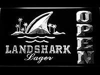 Landshark Open LED看板 ネオンサイン ライト 電飾 広告用標識 W30cm x H20cm ホワイト