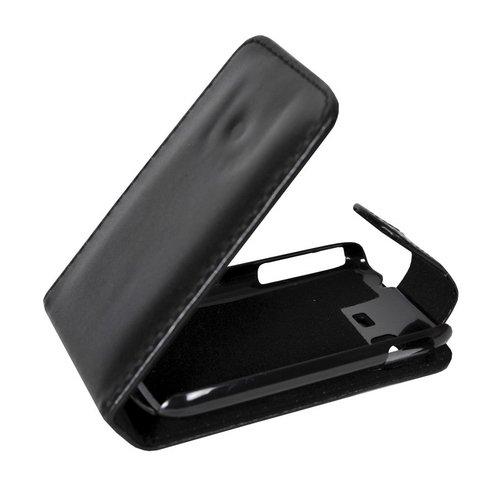 Mobilfunk Krause - Flip Hülle Etui Handytasche Tasche Hülle für Samsung GT-S5300 / S5300 (Schwarz)