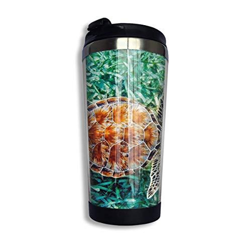 Taza de café de viaje Color Turtle Taza de café con aislamiento de acero inoxidable Botella de agua deportiva 13.5 Oz (400 ml) MUG-5176