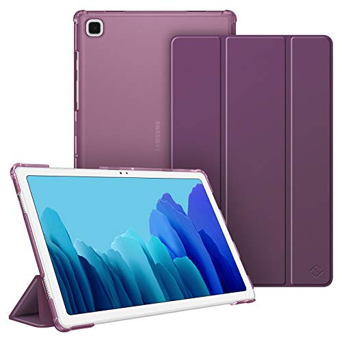 Fintie Hülle für Samsung Galaxy Tab A7 10.4 2020, Superdünn Schutzhülle mit durchsichtiger Rückseite Abdeckung Cover, Auto Schlaf/Wach für Galaxy Tab A7 10.4 SM-T500/T505/T507, Lila