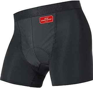 UWBOXO Men's BASE LAYER WINDSTOPPER Boxer Shorts+, black, size M by Gore Bike Wear