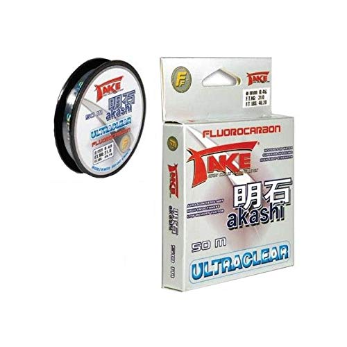 Nylon DE PECHA Take AKASHI ULTRACLEAR FLUOROCARBON 50 M Modelo 0,14 mm