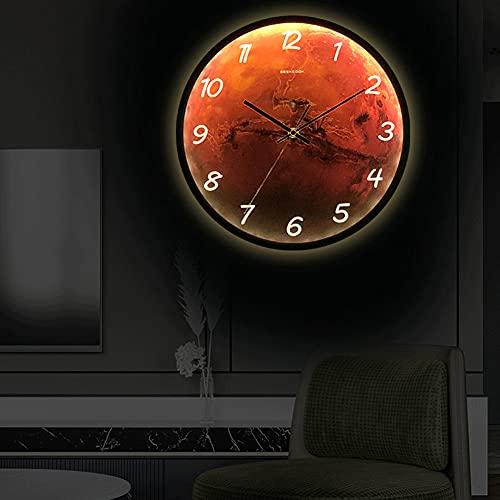 DCLINA 30cm Reloj Luminoso Pared Silencioso Luminoso Reloj De Pared con Luz De Control De Sonido para Decoración De Cocina, Casa, Oficina, Dormitorio