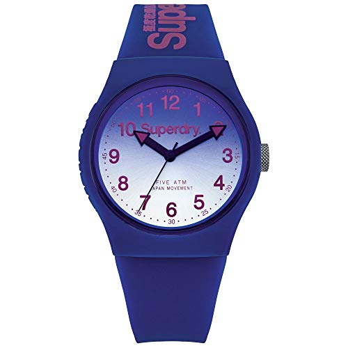 Superdry Reloj Analogico para Unisex de Cuarzo con Correa en Silicona SYG198UU