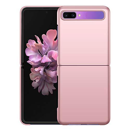YIIWAY Samsung Galaxy Z Flip Hülle, Rose Gold Sehr Dünn Schutz Hülle Handyhülle Harte Schutzhülle Hülle für Samsung Galaxy Z Flip 5G YW41269